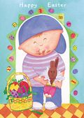 Easter Card-Boy With Bunny
